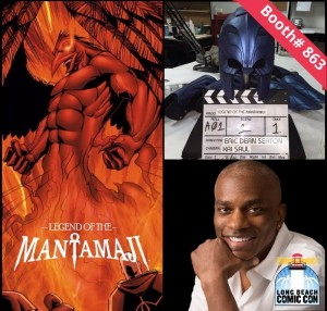 legend of the mantamaji, eric dean seaton, long beach comic con, black superhero